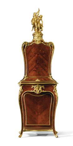 A gilt- bronze- mounted kingwood and parquetry bios de bout floral marquetry cabinet Napoleon III, circa 1870 | Lot | Sotheby's