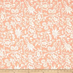 Riley Blake Apricot & Persimmon Apricot Floral Peach from @fabricdotcom  Designed by Carina Gardner for Riley Blake, this cotton print is perfect for quilting, apparel and home decor accents. Colors include pink-peach and off-white.