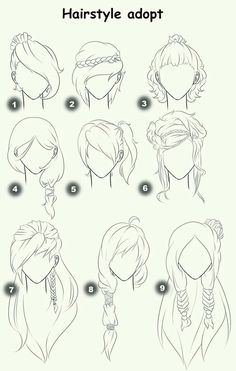 cool Hairstyle Adopt, text, woman, girl, hairstyles; How to Draw Manga/Anime...