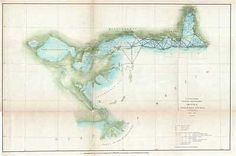 1851 U.S. Coast Survey Map of Lake Pontchartrain, New Orleans, and the Mississippi River