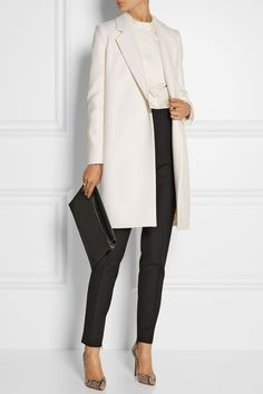 Victoria Beckham | Double-breasted wool-blend felt coat