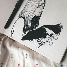 💕. @_sentimentalheart #illustration #drawing #art