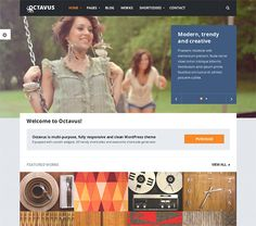 This flat WordPress theme features a responsive design, retina ready icons and buttons, live colour customisation, custom widgets, a shortcode generator, over 600 Google Fonts, 2 sliders, 55+ custom shortcodes, and more.