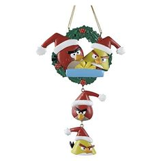 Kurt Adler Resin Angry Birds Family of 4 Personalization Ornament > Awesome product. Click the image : Christmas Decorations