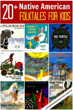 A list of more than 20 Native American folktale books for kids including porquois tales, legends and stories.