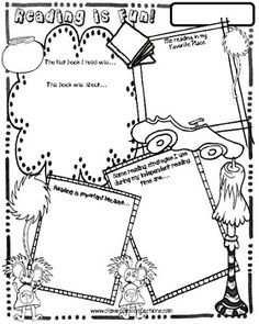 perfect for Read Across America!!  Reading Poster Activity