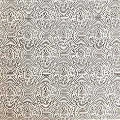 Security pattern by Martin J Weber, 1942.