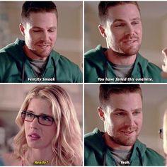 Arrow - Oliver & Felicity #4.1 #Season4 #Olicity lol