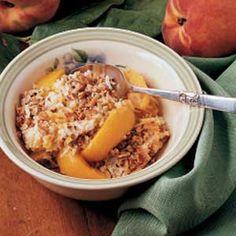 Nutty peach crisp - yummy and easy