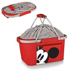 Picnic Time Disney Mickey Mouse Metro Basket Cooler - Red