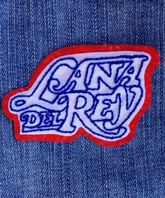 Lana Del Rey hand embroidered iron on patch.