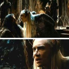 Thranduil & Thorin <Thranduil's expression in the first one!!!