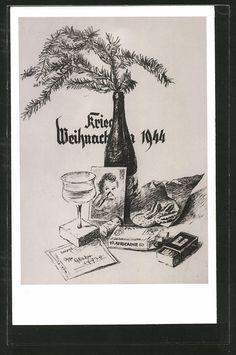 old postcard : AK Kriegsweihnacht 1944