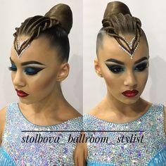 "321 Likes, 5 Comments - Дарья Столбова (@stolbova_ballroom_stylist) on Instagram: ""Вallroom hairstyle by Darya Stolbova Make-up @alexandra_beauty_creator Имидж-студия @artecreo…"""