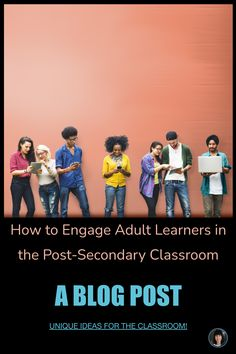 How to Engage Adult Learners in the Post-Secondary Classroom Student engagement in the classroom is at the forefront of most discussions and professional development. And for good reason. But what does engagement mean, exactly? And how can that apply to post-secondary learning institutions such as colleges or universities? In short, engagement is the degree to which a person, in this case, a student, is interested in the class, content, or even the teacher. CLICK TO SEE MORE. High School Activities, Learning Activities, Teaching Resources, Ap Language, English Language, High School Literature, Ap English, Secondary Teacher, Middle School English