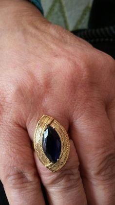 Lacivert taşlı hasır yüzük Angles, Class Ring, Sapphire, Fiber, Jewelry Making, Metal, Rings, Hardanger