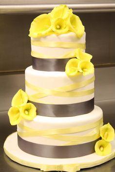 Cala Lily Wedding Cake
