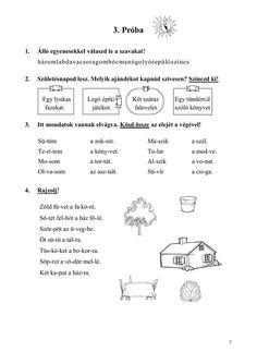 Olvasóka 1-2. évfolyam számára Home Learning, Play To Learn, Teaching Tips, Worksheets, Literature, 1, Classroom, Journal, Writing