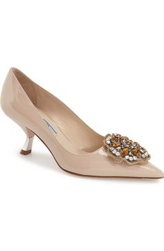 Prada Beaded Pointy Toe Pump (Women) available at #Nordstrom