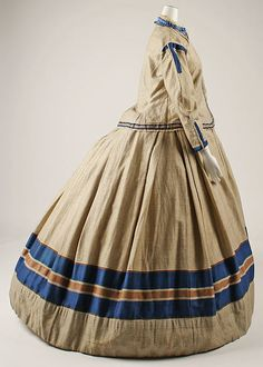 Ensemble (image 2) | British | 1867 | wool, cotton, silk, wood | Metropolitan Museum of Art | Accession Number: 1985.20.1a–d