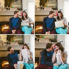 LOVE this gender reveal idea! Have your doctor write down if it's a boy or girl and put it in an envelope. Take the envelope to a clothing store and pick one boy and one girl outfit. Tell the cashier to look inside the envelope and wrap the corresponding outfit. Wait until Christmas to open it with your family all around you. The best gift ever.