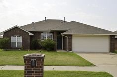 Traditional, Single Family - Moore, OK 3 bedrooms, 2 fulls baths, 2 car garage. Master suite with full bath and large walk in closet. Fireplace in living, open floorplan with kitchen and dining. Kitchen has a breakfast bar, pantry, and electric appliance. Guest beds on other side with bath in between. Nice backyard with open patio.