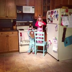 We're having that for dinner? Toddler Dinners, Top Freezer Refrigerator