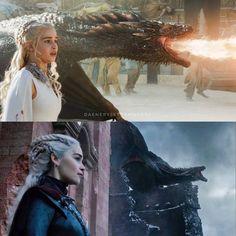 "Daenerys Targaryen on Instagram: ""⠀ Until the end 🔥 ⠀ • • • • #daenerys #daenerystargaryen #stormborn #daenerysstormborn #khalessi #queen #dracarys #dragons #dragonstone…"" Drogon Game Of Thrones, Game Of Thrones Dragons, Got Dragons, Game Of Thrones Art, Mother Of Dragons, Game Of Thrones Quotes, Game Of Thrones Funny, Emilia Clarke, Daenerys Targaryen"