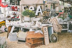 The Strawberry Patch barn sale in Tennessee - 40 vendors selling vintage and… Plywood Furniture, Kelly Wearstler, Patch Maker, Little Cottages, Nashville, Strawberry Patch, Flea Market Style, Repurposed Items, Vintage Market
