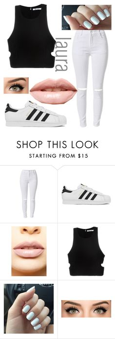 """""""Untitled #40"""" by lauraederveen on Polyvore featuring adidas, LASplash, T By Alexander Wang, women's clothing, women's fashion, women, female, woman, misses and juniors"""