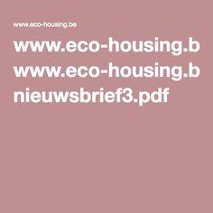 www.eco-housing.be nieuwsbrief3.pdf
