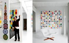 I would love an all-white room with bits of bright colors here and there.