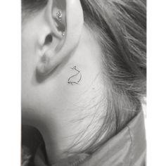 LOVE this tiny Dolphin tattoo @playground_tat2