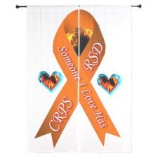 Someone I Love has CRPS RSD Orange Ribbon Curtains
