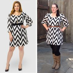 ING Chevron Print Dress in Black & White on #gwynniebee member Candice B. via Instagram