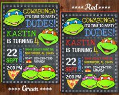 Ninja Turtle Invitation  Ninja Turtles Party by GalaPartyPrintable