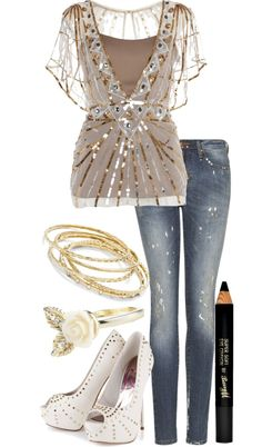 """""""Glittery Gold! (:"""" by jamiegurl13 ❤ liked on Polyvore"""