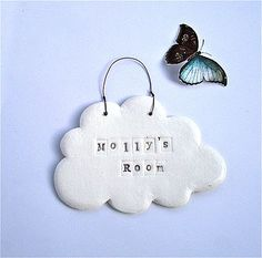 Porcelain Cloud Personalised Name Plaque