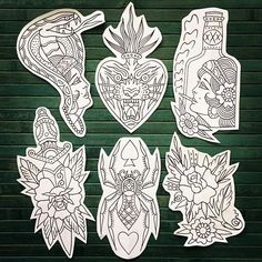 WEBSTA Flashes available / availables - WEBSTA Flashes available / availables - Modern Tattoos, Black Tattoos, Body Art Tattoos, Sleeve Tattoos, Traditional Tattoo Old School, Traditional Tattoo Flash, Tattoo Sketches, Tattoo Drawings, Dessin Old School