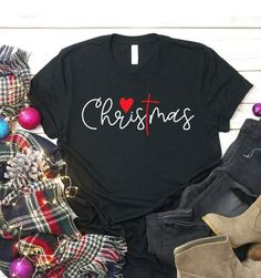 Christmas Love For Christian The Cross T Shirt - Custom Graphic Tee - Christmas Gift Idea picture Source by bestvintagegift Look t-shirt Christmas Tee Shirts, Christmas Sweaters, Christmas Clothes, Christmas Tshirts Ideas, Christmas T Shirt Design, Look T Shirt, Shirt Style, Vinyl Shirts, Custom T Shirts