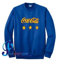 Coca Cola Logo With Stars Sweatshirt – padshops Stitch Sweatshirt, Sweater Hoodie, Graphic Sweatshirt, Coca Cola, Disney Website, Tank Top Outfits, Hoodies, Sweatshirts, Unisex