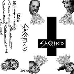 Primer cassette de SACRIFICIO, banda de hardcore punk de México DF.