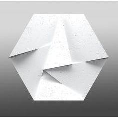 ZARIA WHITE FLASH 3D PANEL ŚCIENNY 60X52  z kolekcji ZARIA