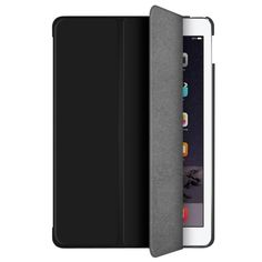 Ultra Slim Protective Case and Stand Design for iPad Mini 3, 2 and 1 Generation - Black, Black/Soft Rubber Finish