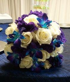 Blue and purple brides bouquet  #purpleweddings
