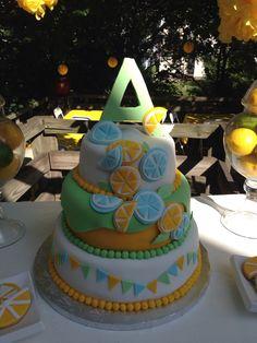 Lemonade stand birthday cake
