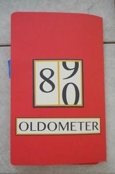 Dad's 80th Birthday, oldometer, fun card, handmade card, humorous, male