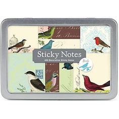 feathered sticky notes
