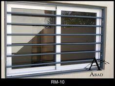 Verja para ventana en tubo redondo horizontal