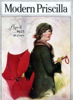 Modern Priscilla magazine, April 1923, James Calvert Smith, cover artist